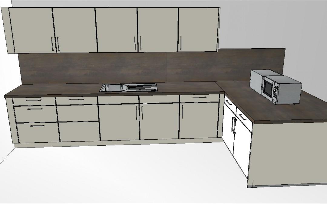 Perspektive große Küche neu